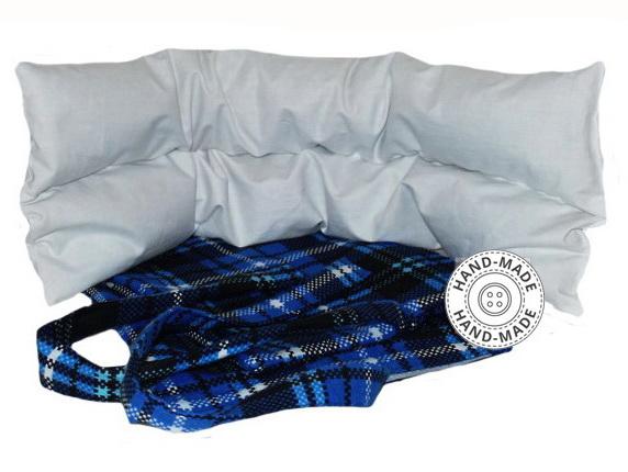 Nahřívací bederní ledvinový pás polštář pohankový špaldový XXL modrý 43ace21cee